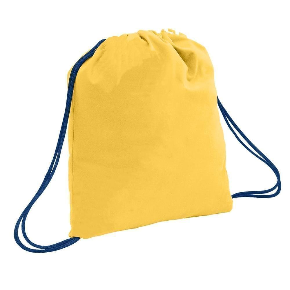 USA Made 200 D Nylon Drawstring Backpacks, Gold-Navy, 2001744-T4Z