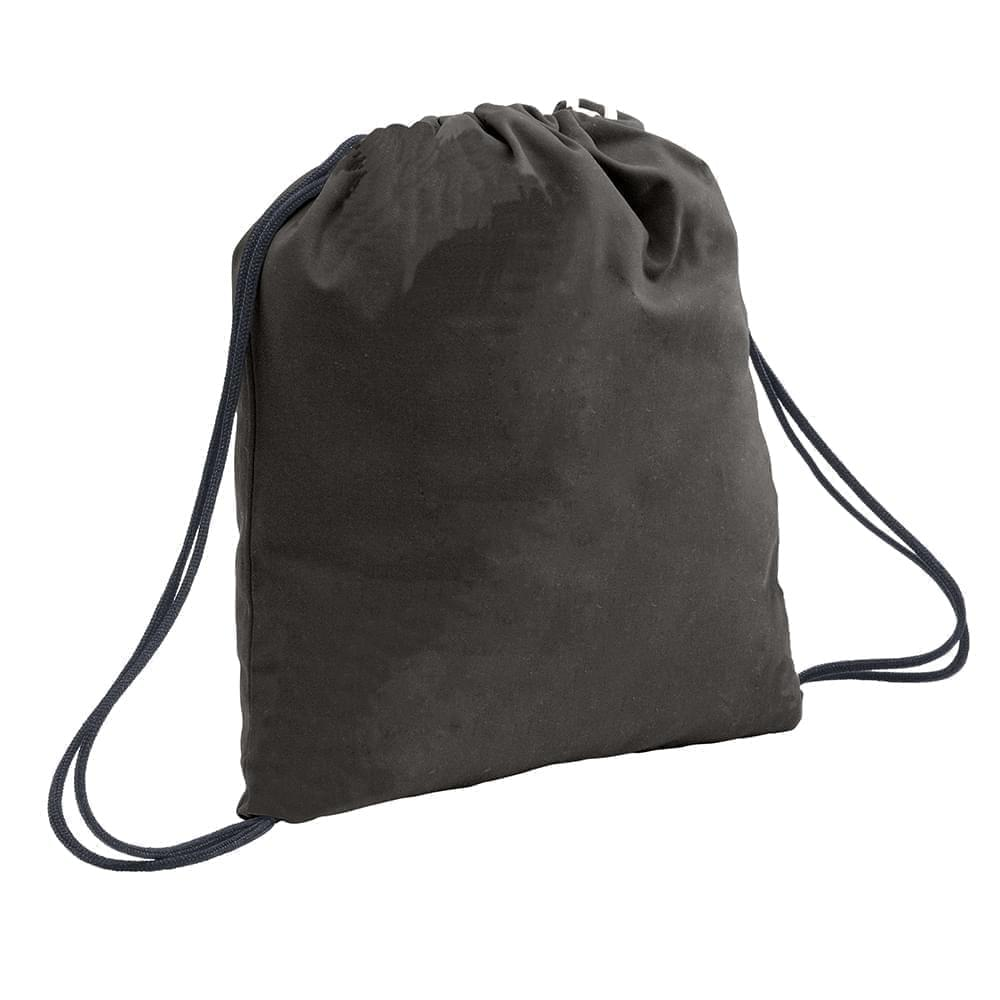 USA Made 200 D Nylon Drawstring Backpacks, Black-Graphite, 2001744-TOT