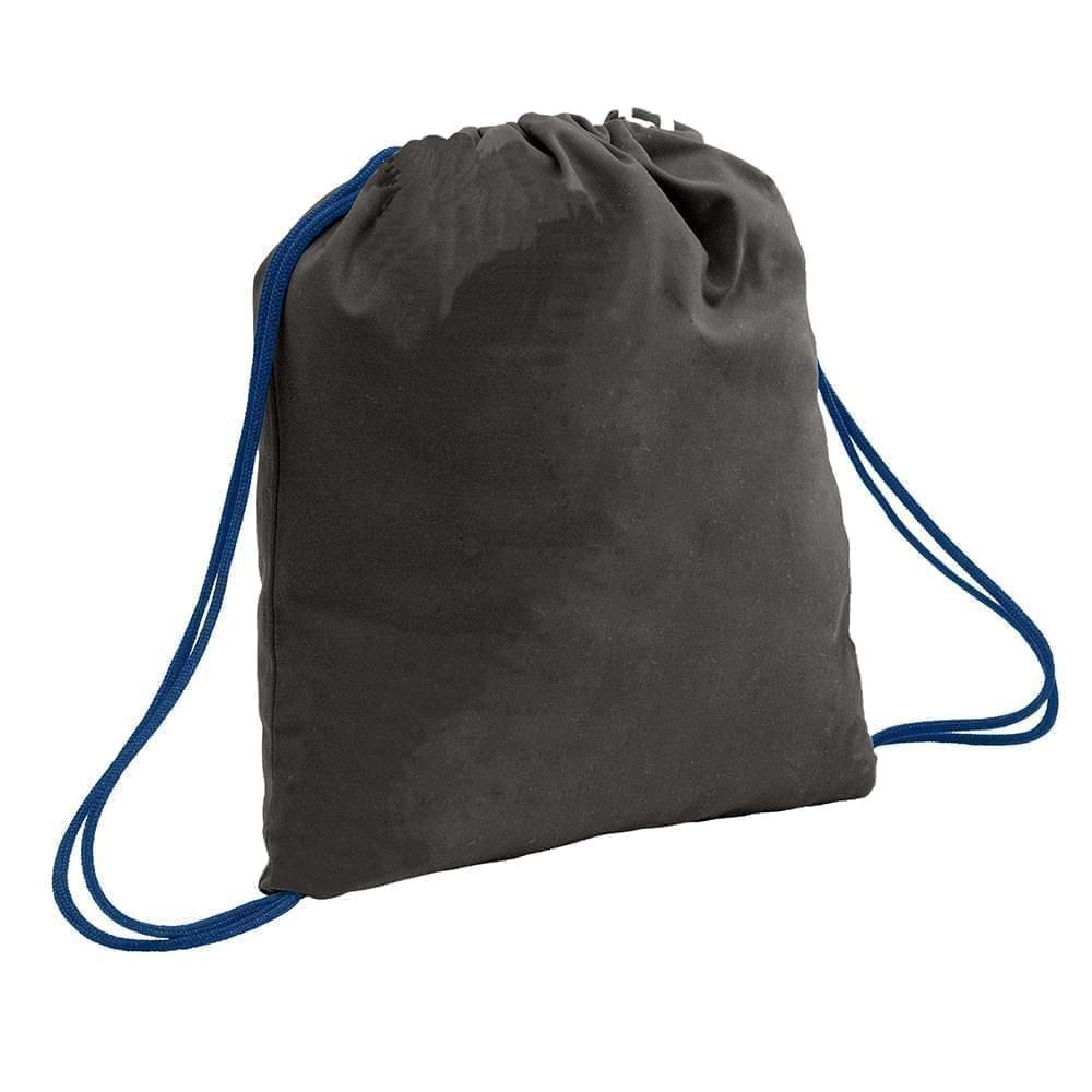 USA Made 200 D Nylon Drawstring Backpacks, Black-Navy, 2001744-TOZ