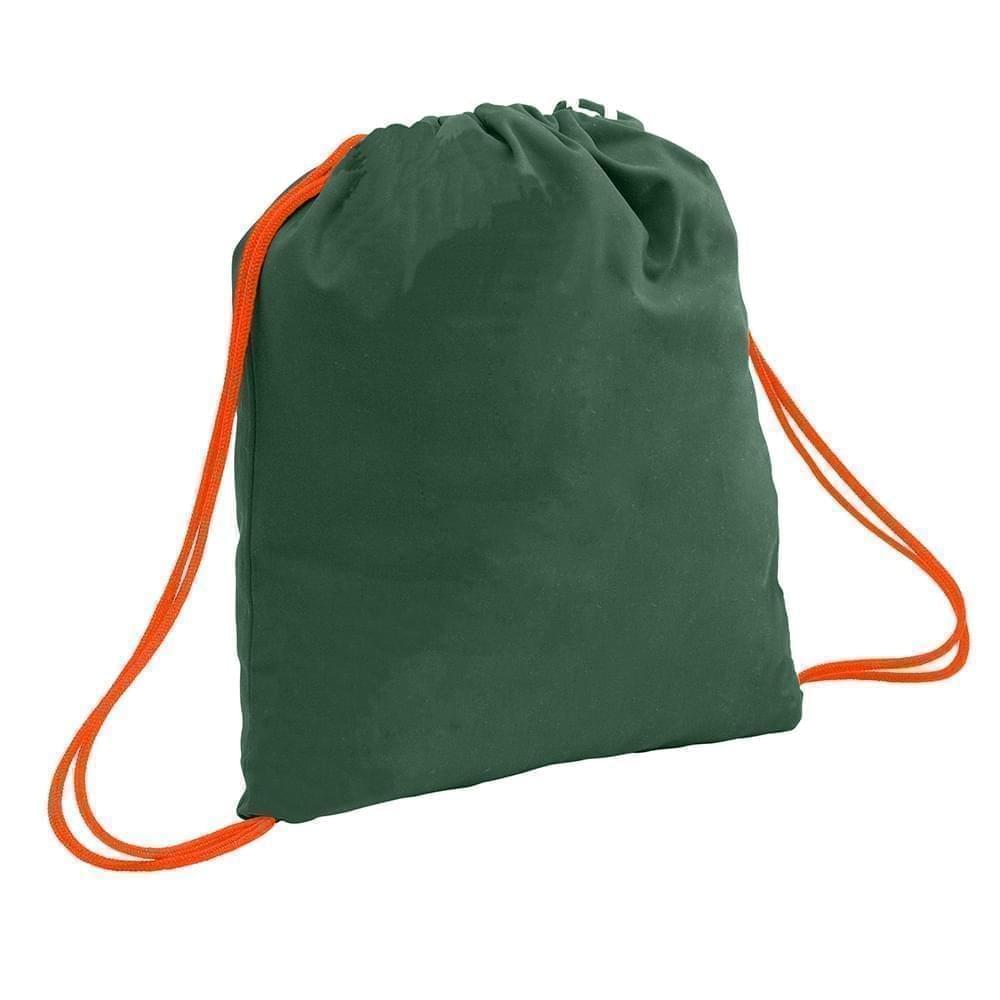 USA Made 200 D Nylon Drawstring Backpacks, Hunter-Orange, 2001744-TS0