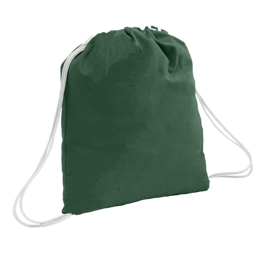 USA Made 200 D Nylon Drawstring Backpacks, Hunter-White, 2001744-TS4