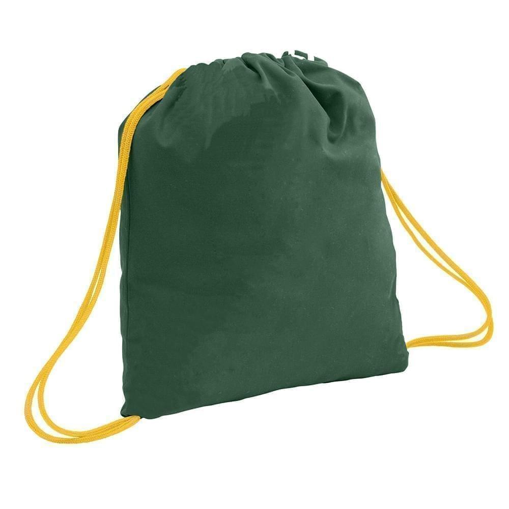 USA Made 200 D Nylon Drawstring Backpacks, Hunter-Gold, 2001744-TS5