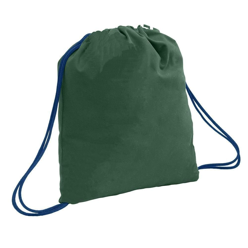 USA Made 200 D Nylon Drawstring Backpacks, Hunter-Navy, 2001744-TSZ