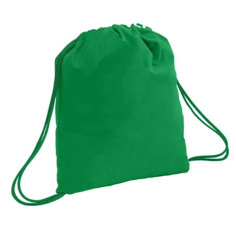 USA Made 200 D Nylon Drawstring Backpacks, Kelly-Kelly, 2001744-TTW
