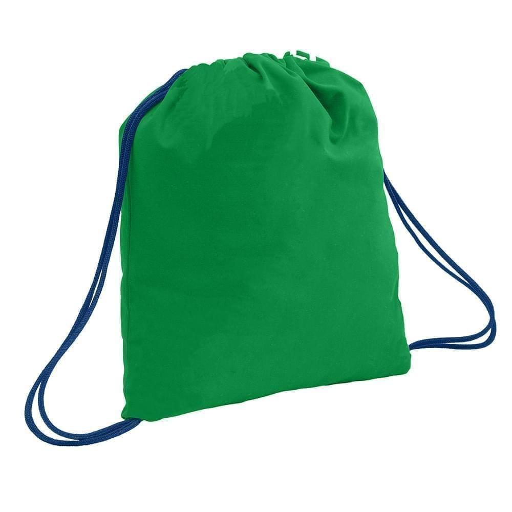 USA Made 200 D Nylon Drawstring Backpacks, Kelly-Navy, 2001744-TTZ