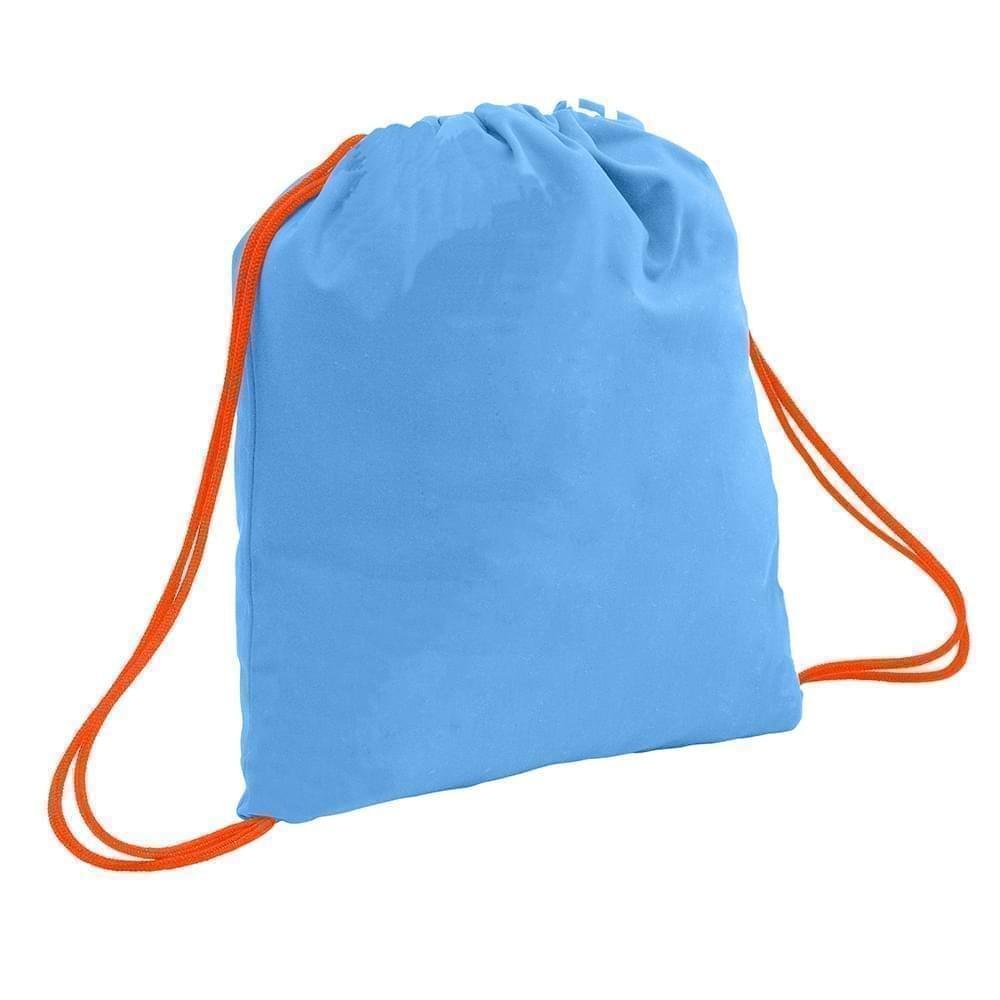 USA Made 200 D Nylon Drawstring Backpacks, Columbia-Orange, 2001744-TU0
