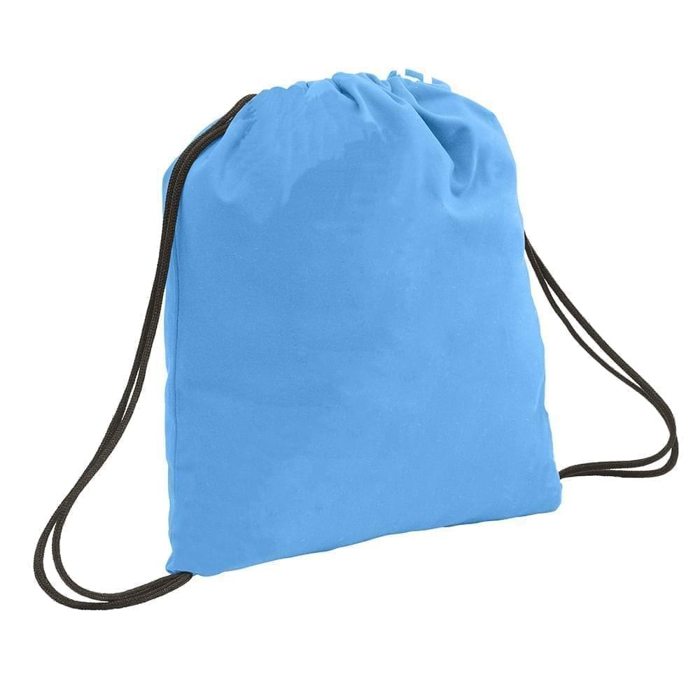 USA Made 200 D Nylon Drawstring Backpacks, Columbia-Black, 2001744-TUR