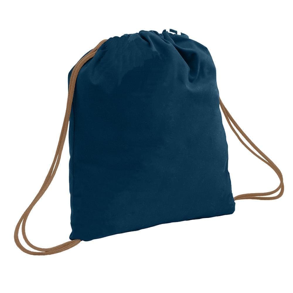 USA Made 200 D Nylon Drawstring Backpacks, Navy-Bronze, 2001744-TVO