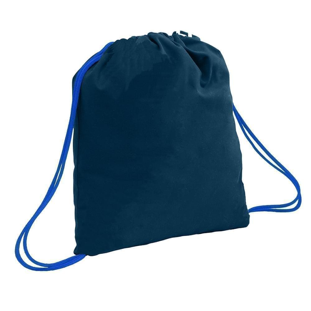 USA Made 200 D Nylon Drawstring Backpacks, Navy-Royal, 2001744-TW3