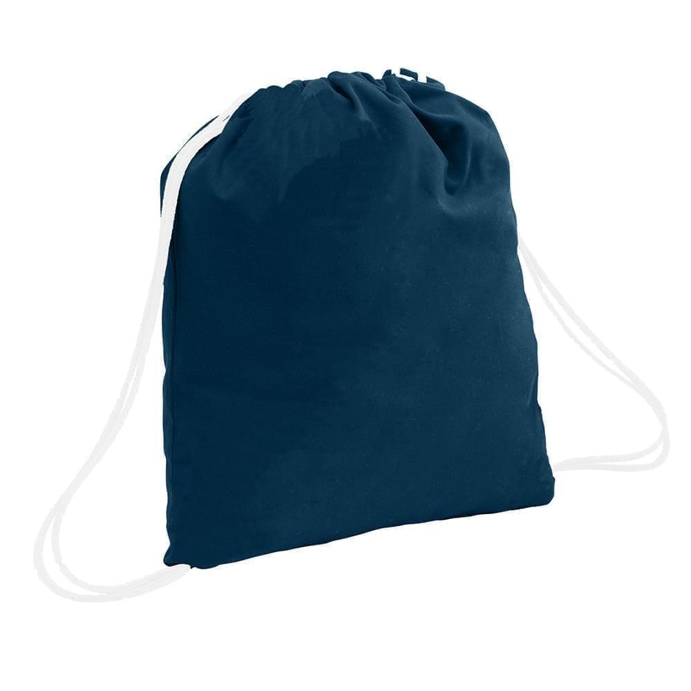 USA Made 200 D Nylon Drawstring Backpacks, Navy-White, 2001744-TW4