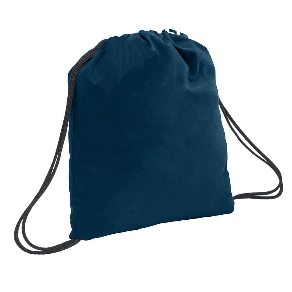 USA Made 200 D Nylon Drawstring Backpacks, Navy-Graphite, 2001744-TWT