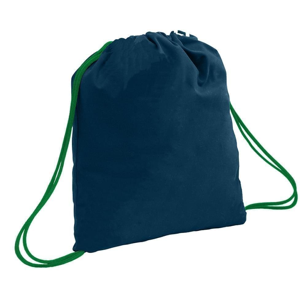 USA Made 200 D Nylon Drawstring Backpacks, Navy-Kelly, 2001744-TWW