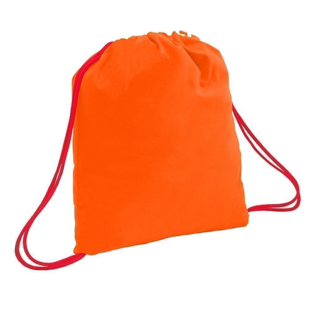 USA Made 200 D Nylon Drawstring Backpacks, Orange-Red, 2001744-TX2