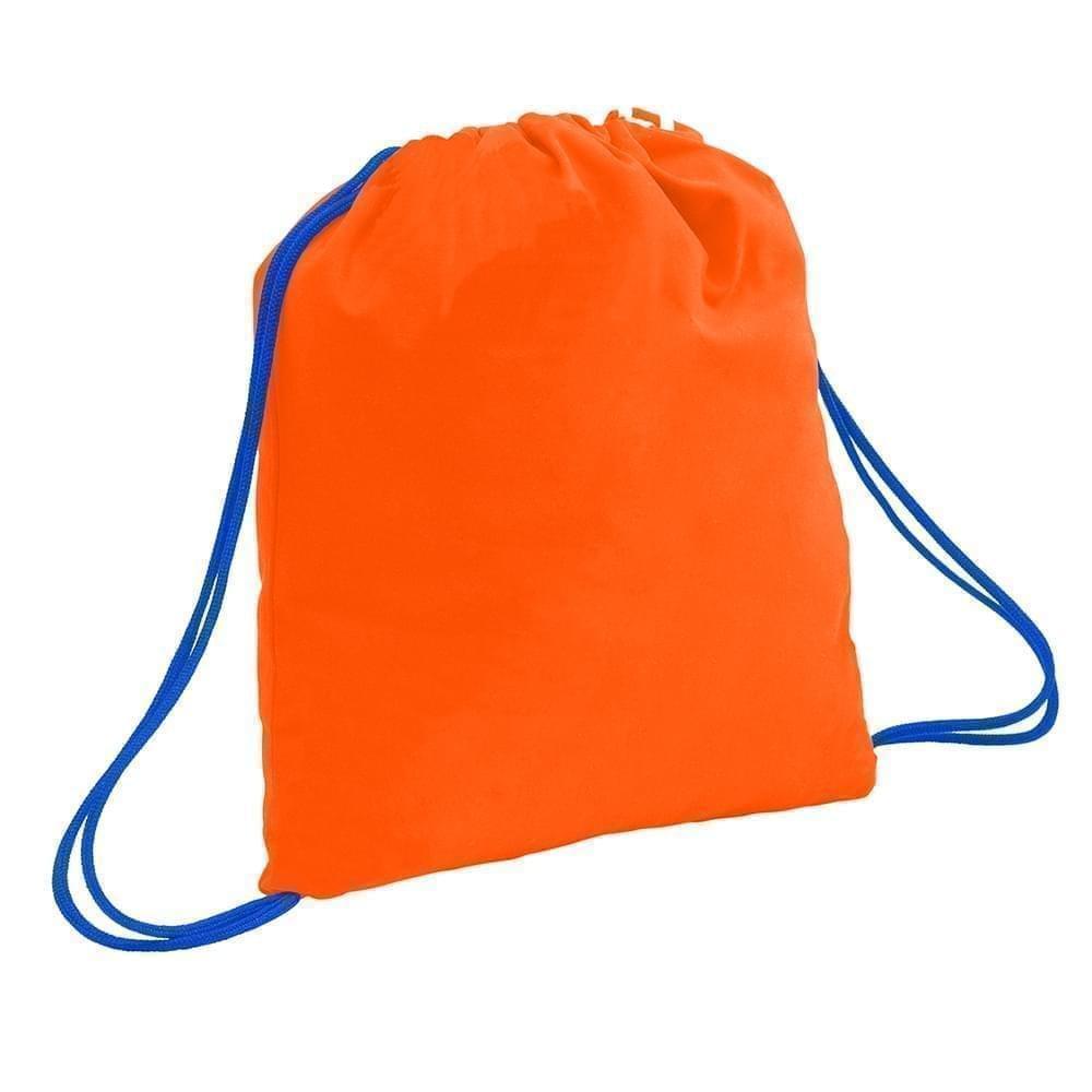 USA Made 200 D Nylon Drawstring Backpacks, Orange-Royal, 2001744-TX3