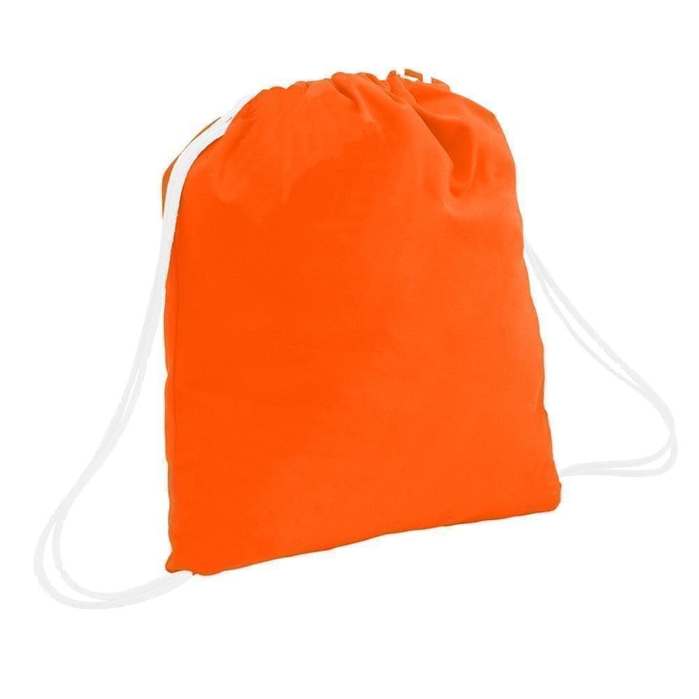 USA Made 200 D Nylon Drawstring Backpacks, Orange-White, 2001744-TX4