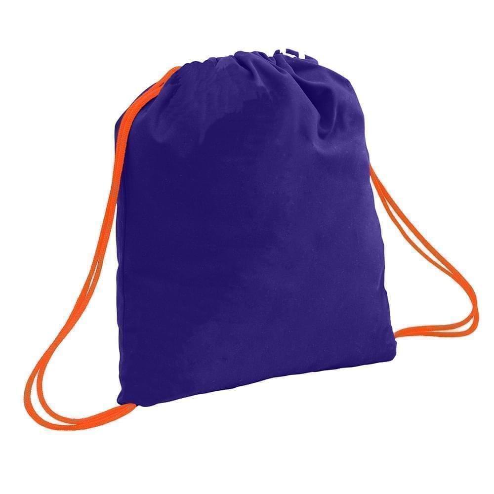 USA Made 200 D Nylon Drawstring Backpacks, Purple-Orange, 2001744-TY0