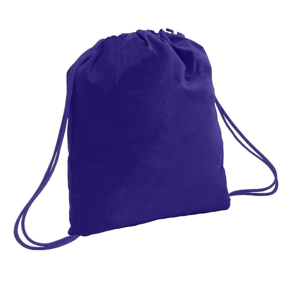 USA Made 200 D Nylon Drawstring Backpacks, Purple-Purple, 2001744-TY1