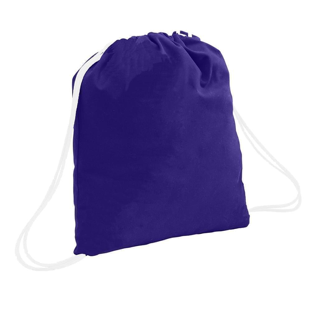 USA Made 200 D Nylon Drawstring Backpacks, Purple-White, 2001744-TY4