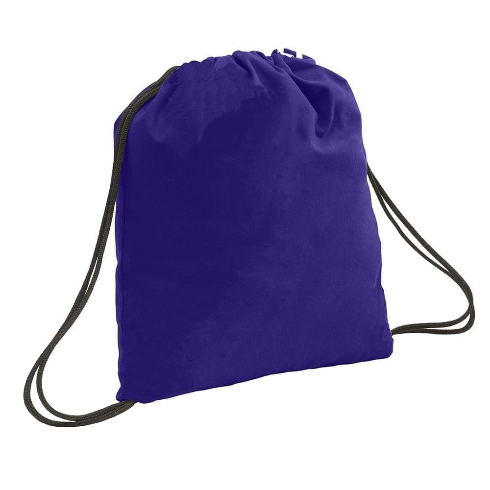 USA Made 200 D Nylon Drawstring Backpacks, Purple-Black, 2001744-TYR