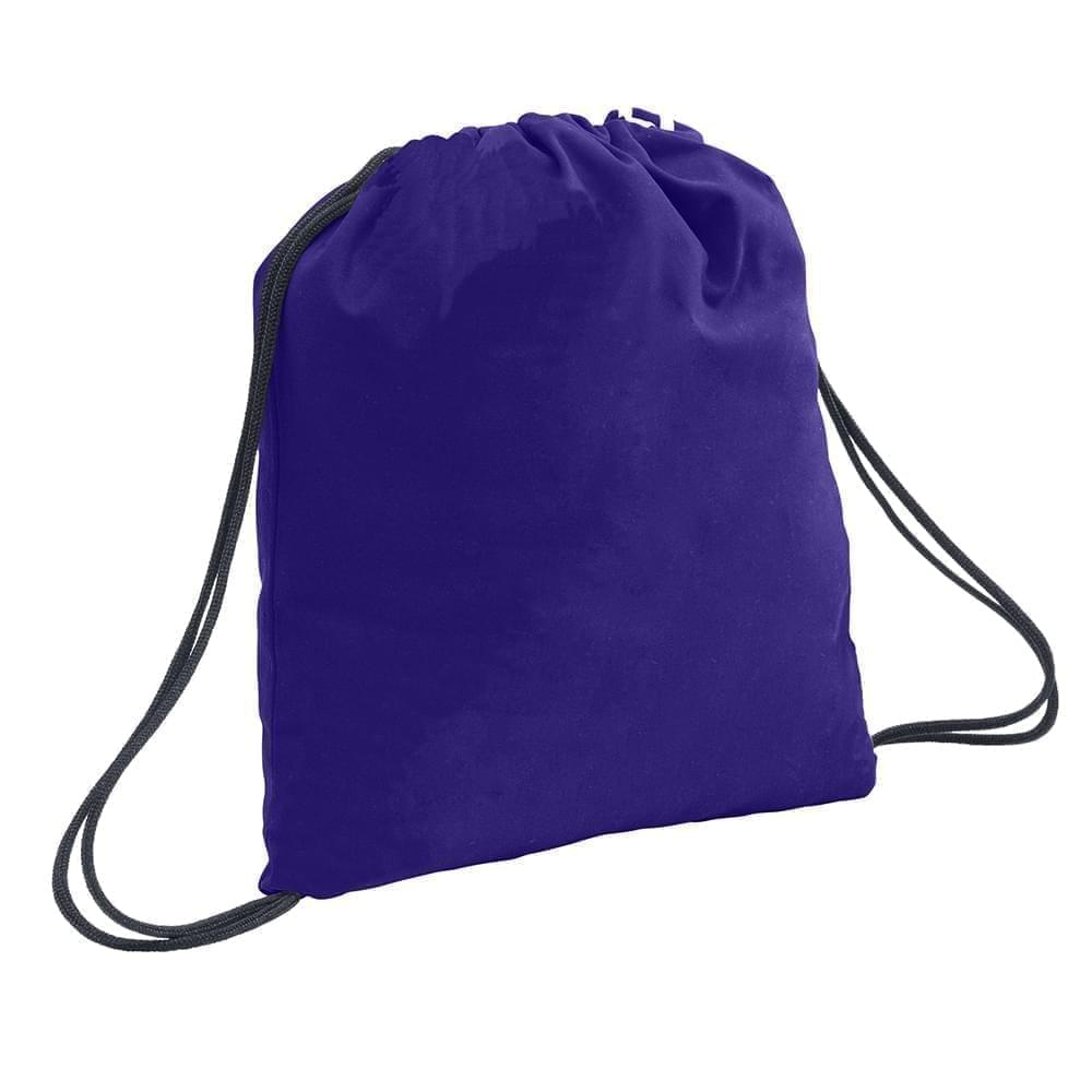 USA Made 200 D Nylon Drawstring Backpacks, Purple-Graphite, 2001744-TYT