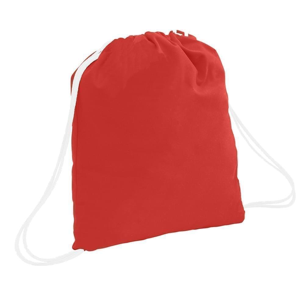USA Made 200 D Nylon Drawstring Backpacks, Red-White, 2001744-TZ4