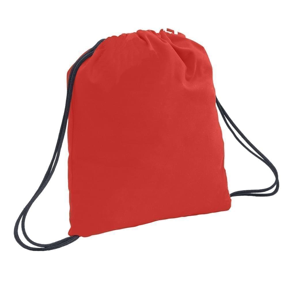 USA Made 200 D Nylon Drawstring Backpacks, Red-Graphite, 2001744-TZT