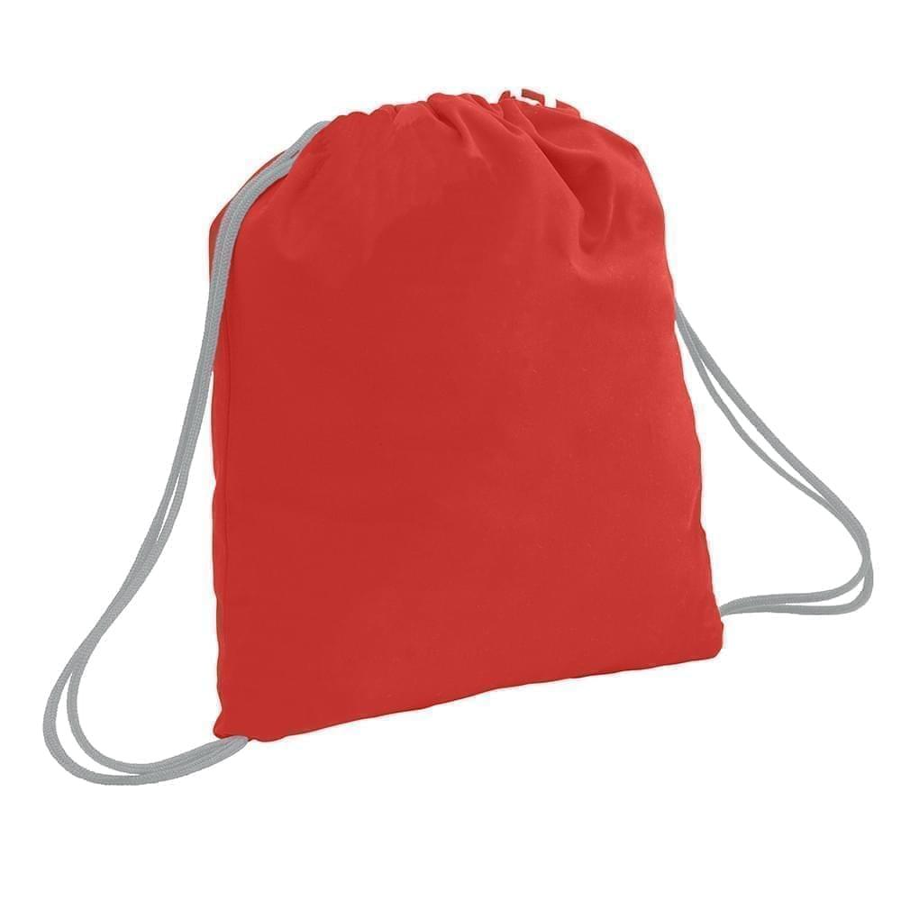 USA Made 200 D Nylon Drawstring Backpacks, Red-Gray, 2001744-TZU