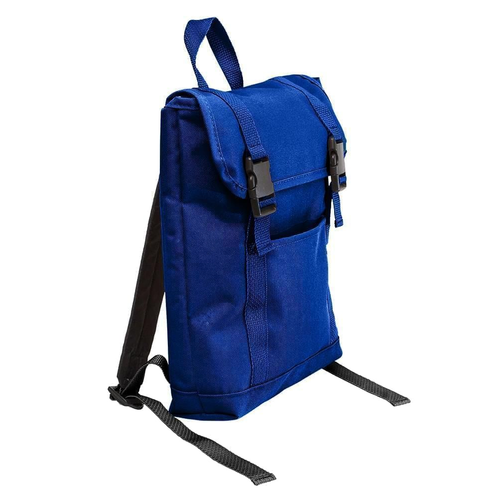 USA Made Poly Small T Bottom Backpacks, Royal-Royal, 2001921-A03