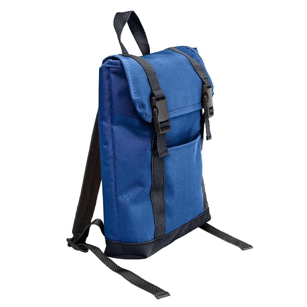 USA Made Poly Small T Bottom Backpacks, Royal-Graphite, 2001921-A0T