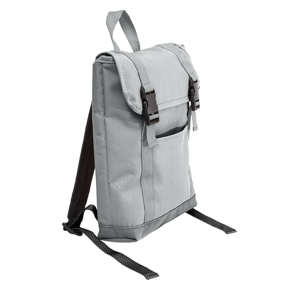 USA Made Poly Small T Bottom Backpacks, Gray-Gray, 2001921-A1U