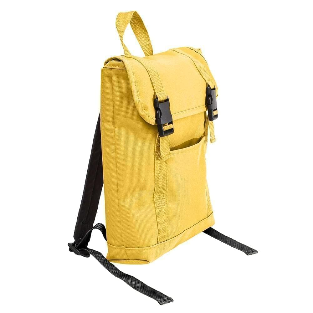 USA Made Poly Small T Bottom Backpacks, Gold-Gold, 2001921-A45