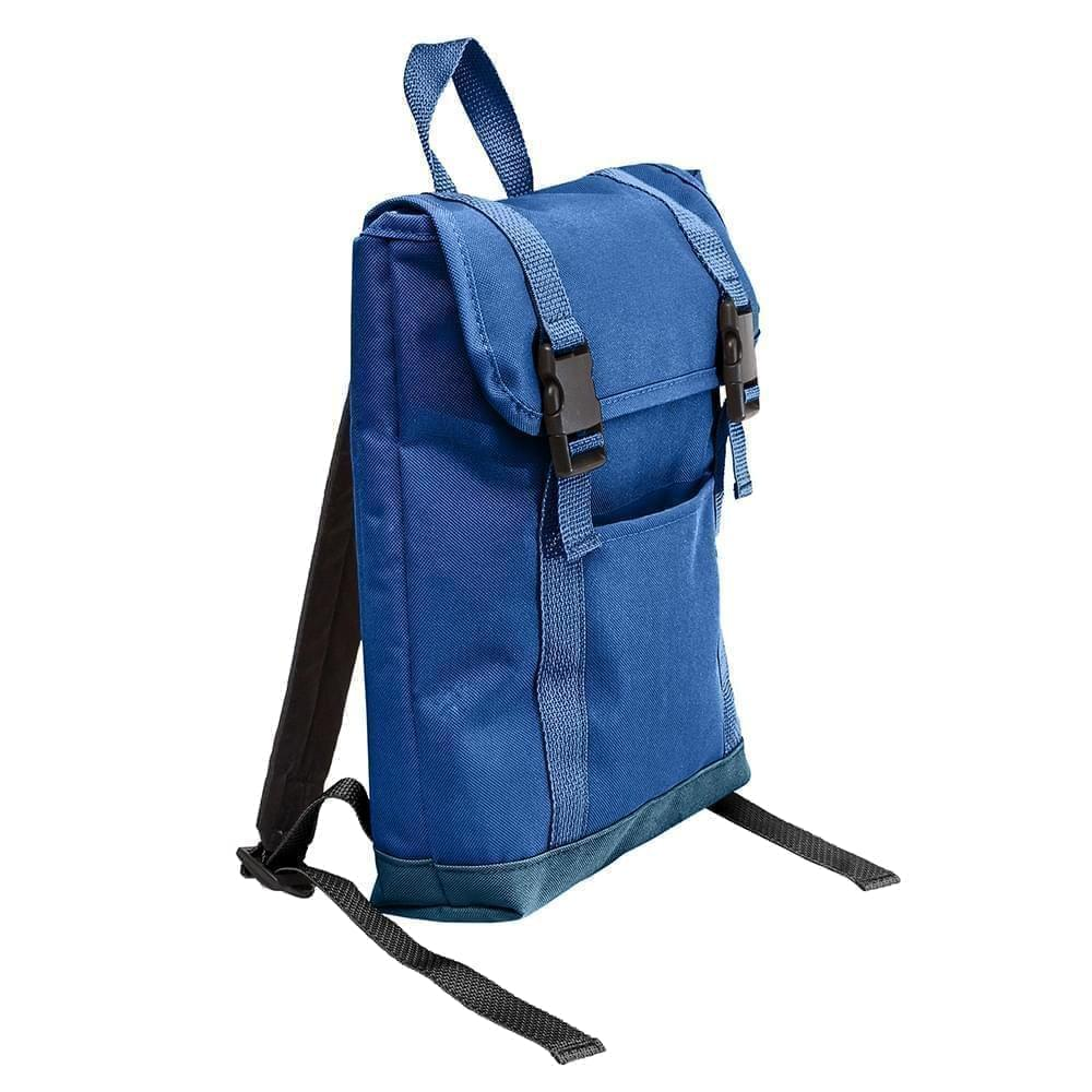 USA Made Canvas Small T Bottom Backpacks, Royal-Navy, 2001921-AFZ