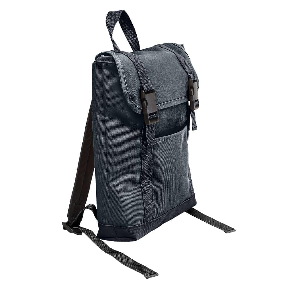 USA Made Canvas Small T Bottom Backpacks, Black-Graphite, 2001921-AHT