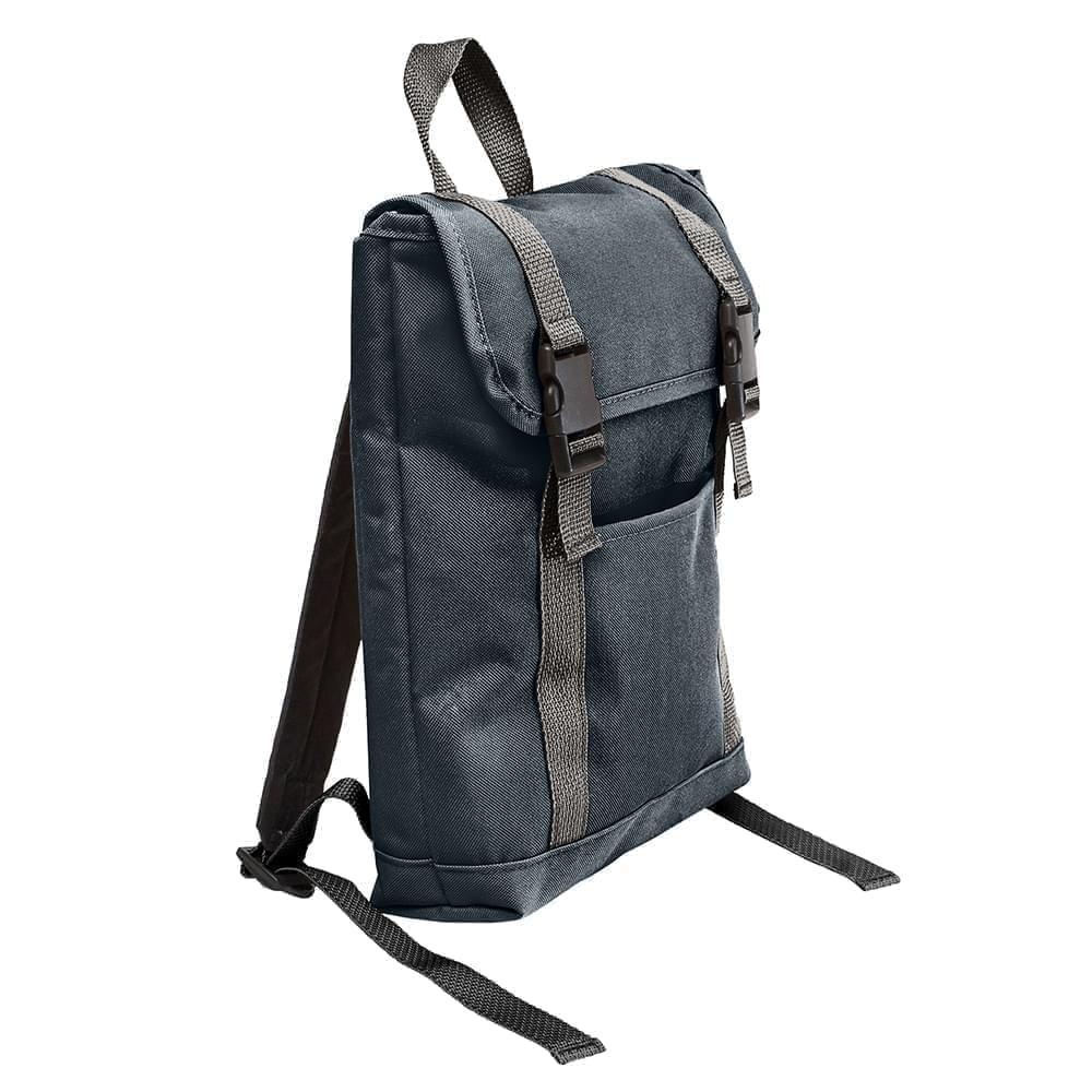 USA Made Poly Small T Bottom Backpacks, Black-Black, 2001921-AOR