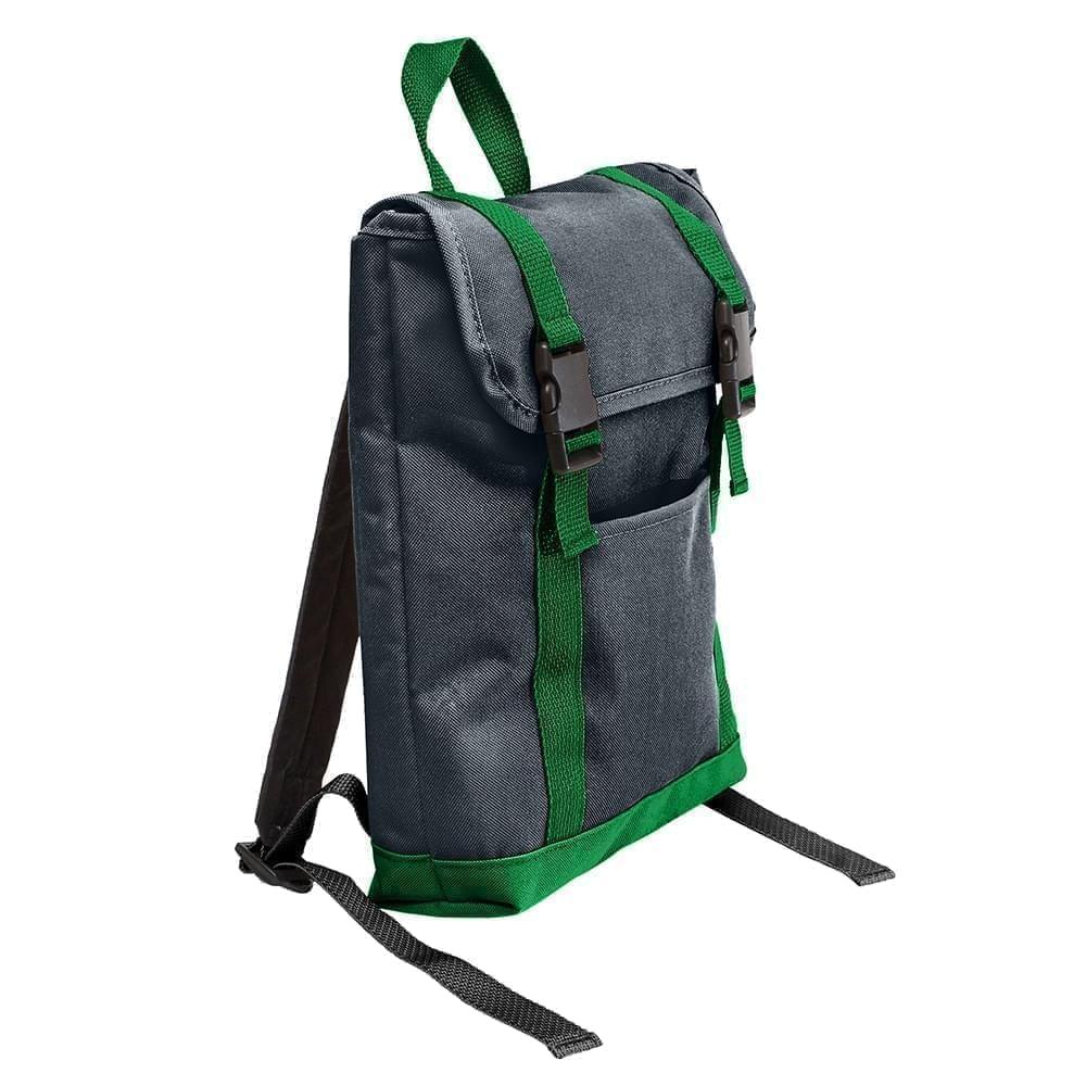 USA Made Poly Small T Bottom Backpacks, Black-Kelly, 2001921-AOW