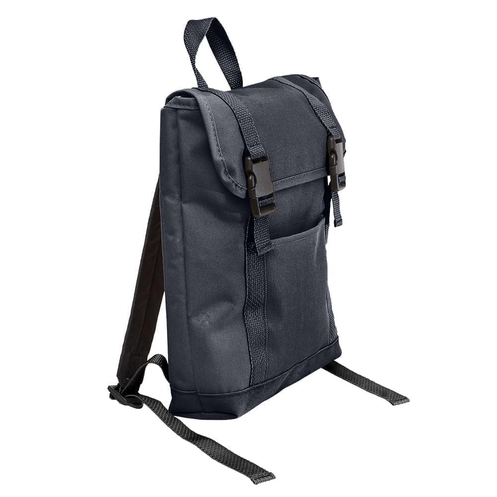 USA Made Poly Small T Bottom Backpacks, Graphite-Graphite, 2001921-ART