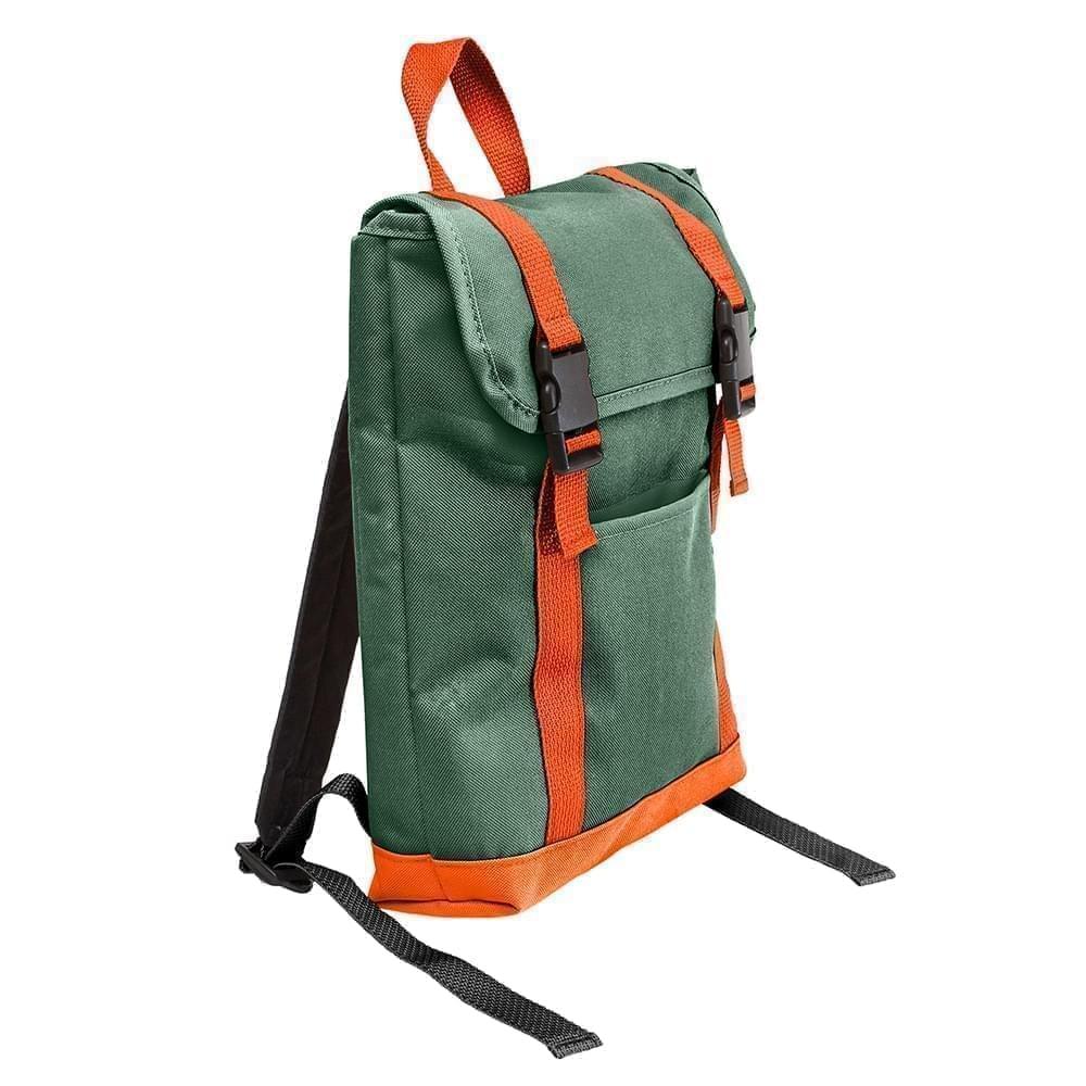 USA Made Poly Small T Bottom Backpacks, Hunter-Orange, 2001921-AS0