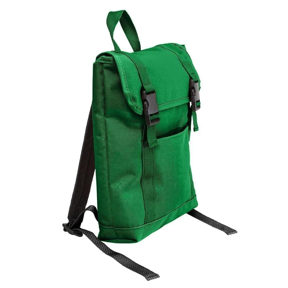 USA Made Poly Small T Bottom Backpacks, Kelly-Kelly, 2001921-ATW