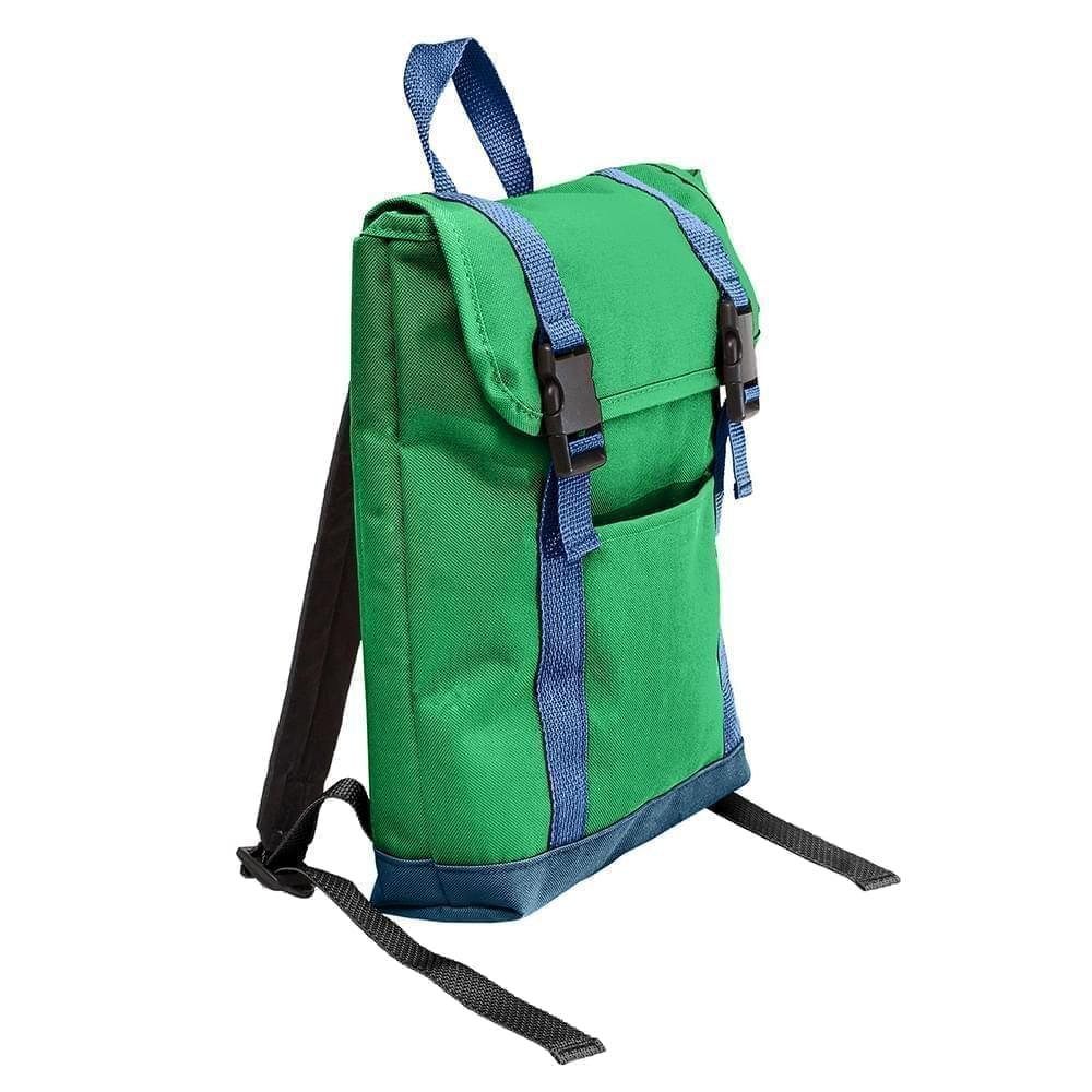 USA Made Poly Small T Bottom Backpacks, Kelly-Navy, 2001921-ATZ