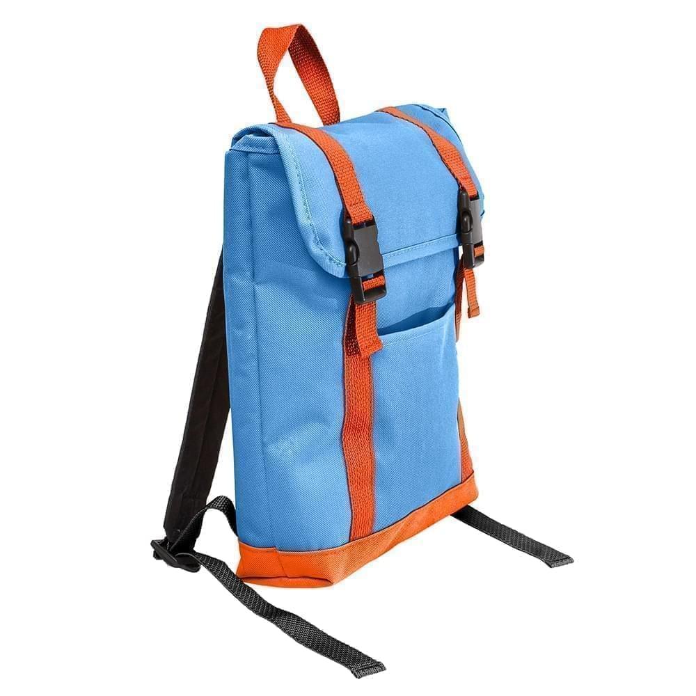 USA Made Poly Small T Bottom Backpacks, Columbia-Orange, 2001921-AU0
