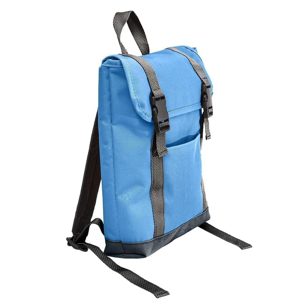 USA Made Poly Small T Bottom Backpacks, Columbia-Black, 2001921-AUR