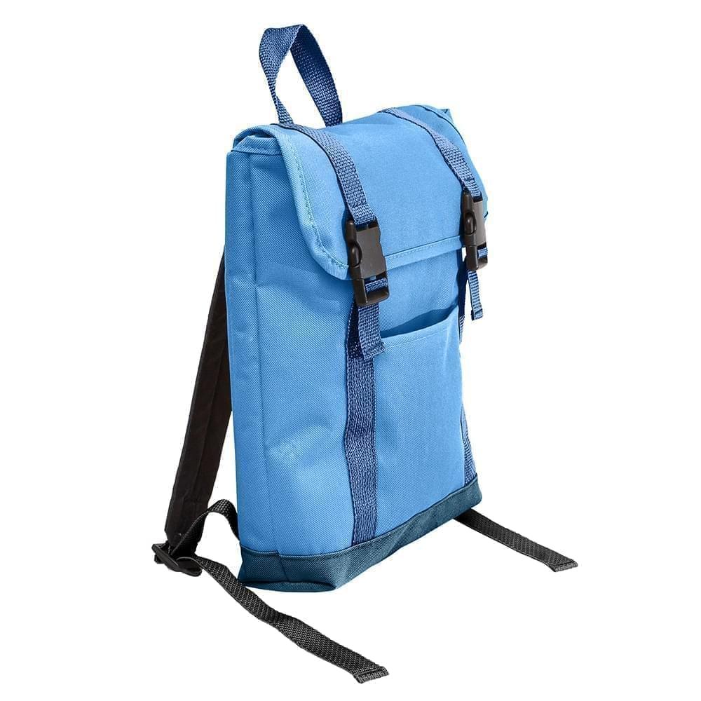 USA Made Poly Small T Bottom Backpacks, Columbia-Navy, 2001921-AUZ