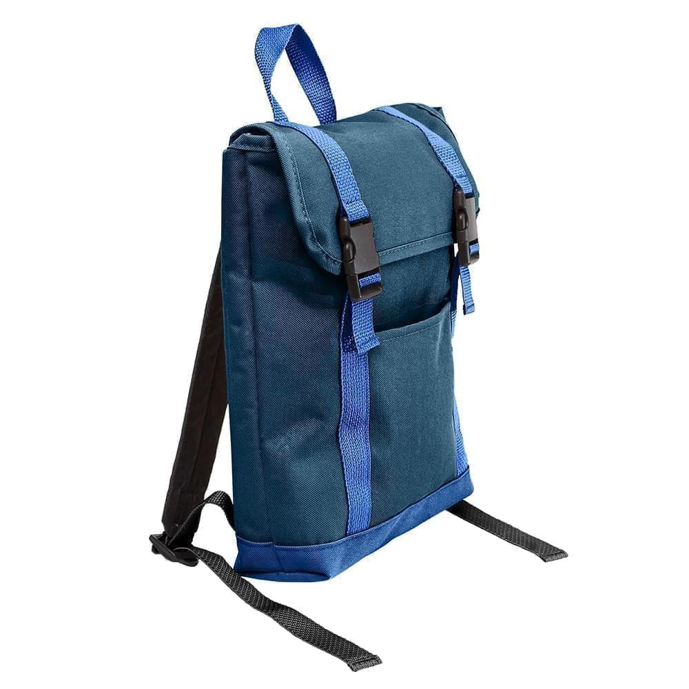 USA Made Poly Small T Bottom Backpacks, Navy-Royal, 2001921-AW3