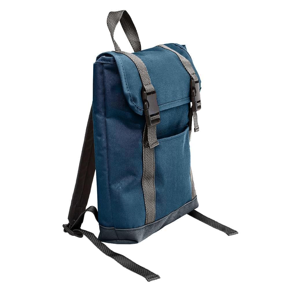 USA Made Poly Small T Bottom Backpacks, Navy-Black, 2001921-AWR