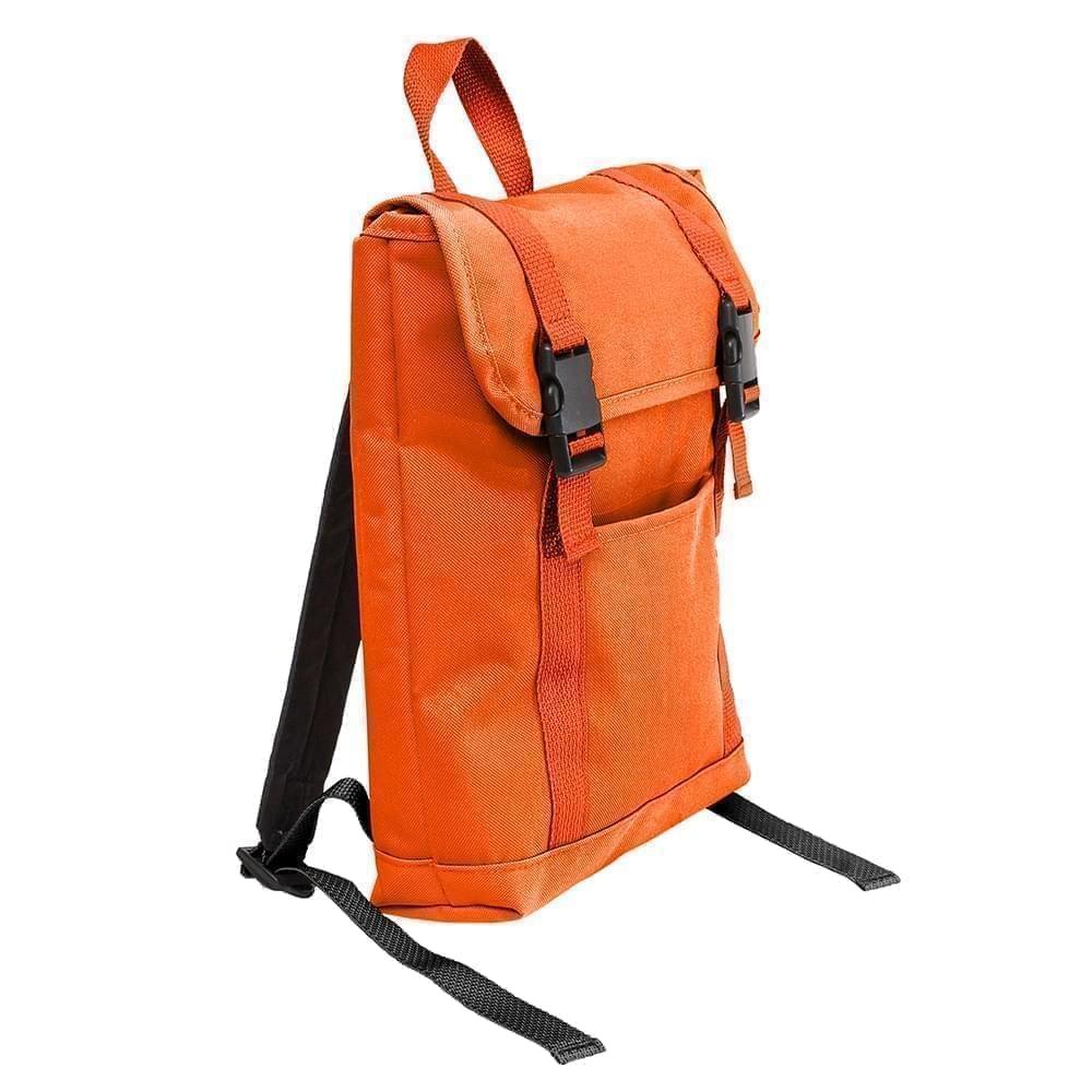 USA Made Poly Small T Bottom Backpacks, Orange-Orange, 2001921-AX0