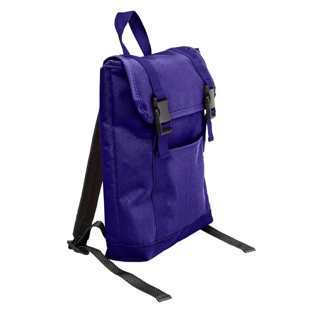 USA Made Poly Small T Bottom Backpacks, Purple-Purple, 2001921-AY1