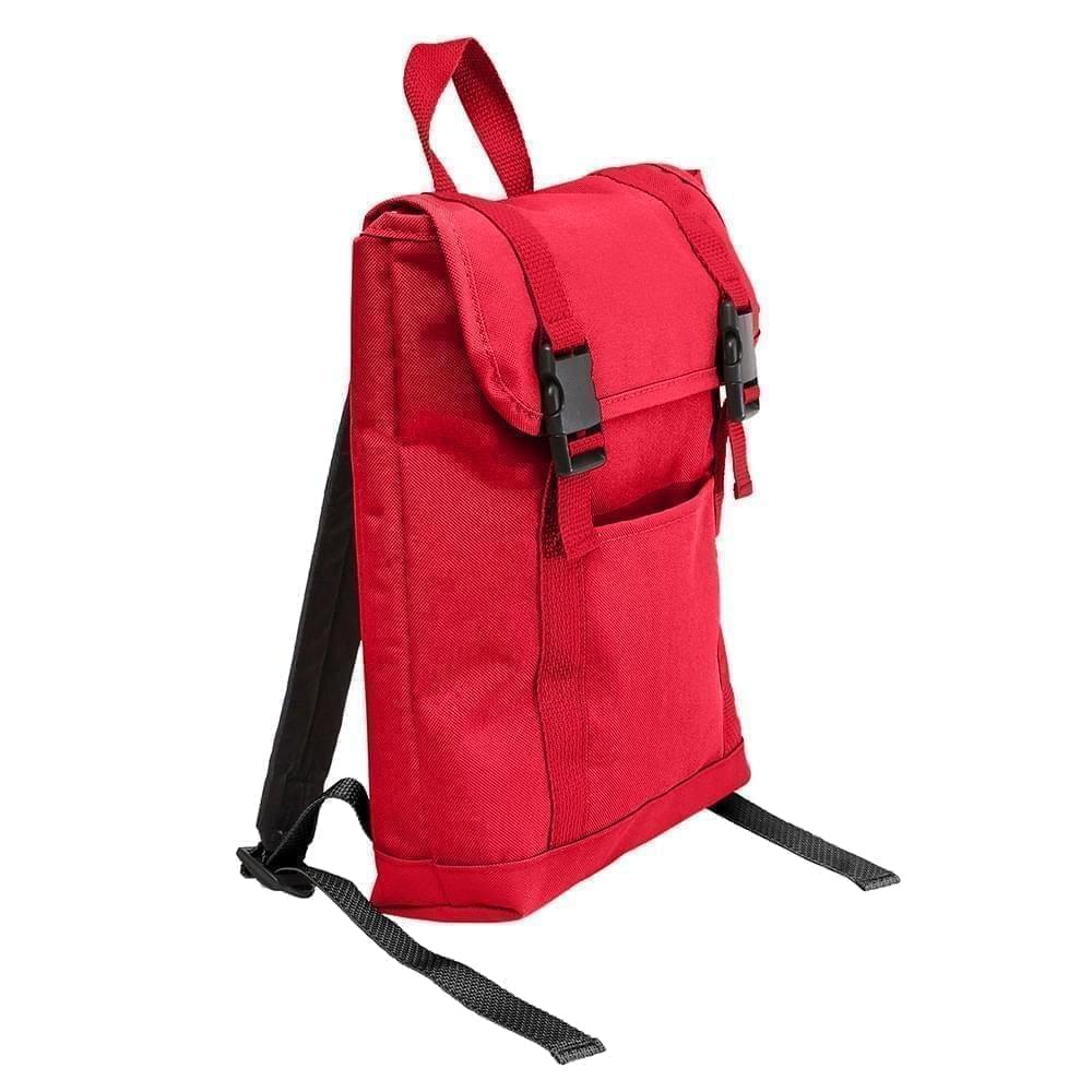 USA Made Poly Small T Bottom Backpacks, Red-Red, 2001921-AZ2