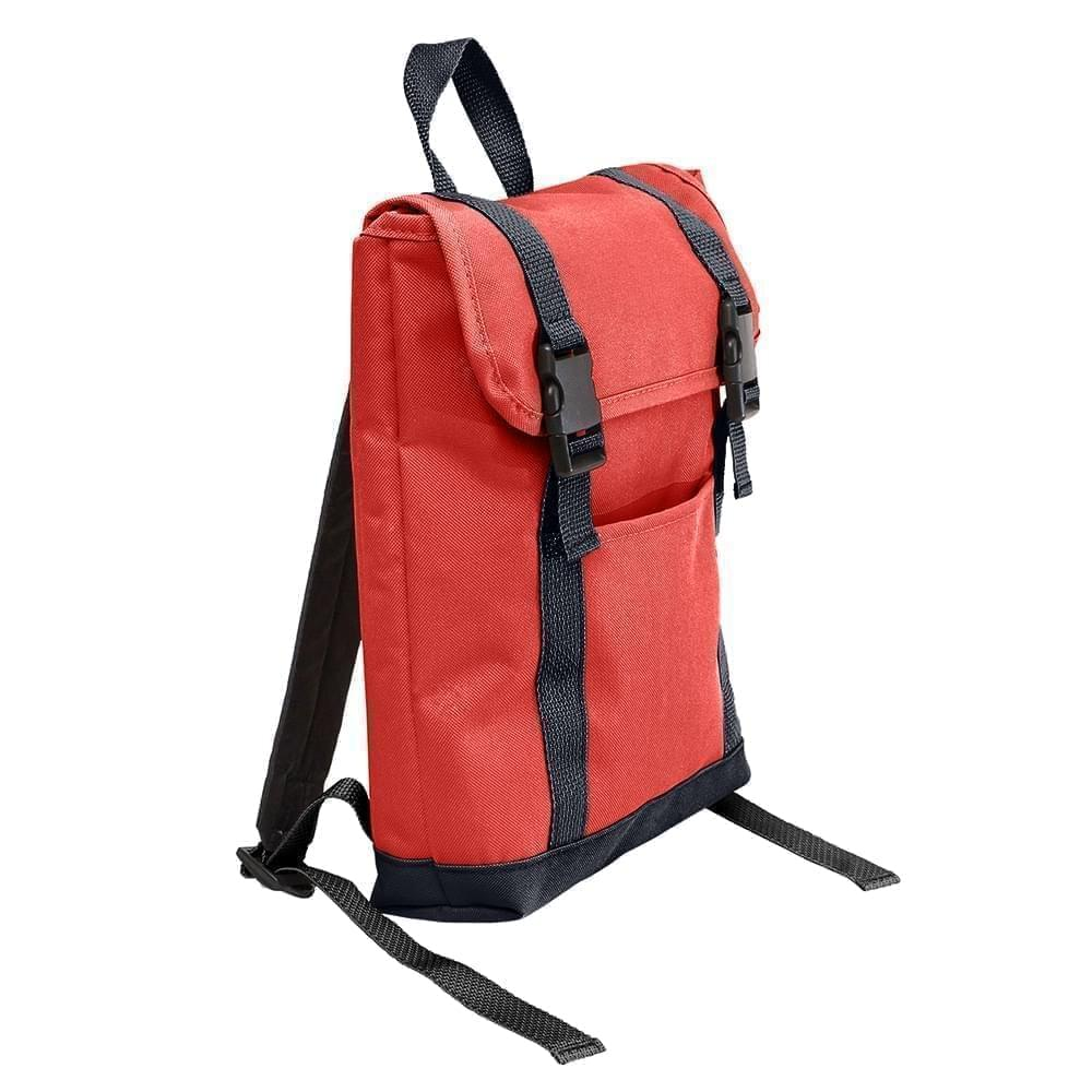 USA Made Poly Small T Bottom Backpacks, Red-Graphite, 2001921-AZT