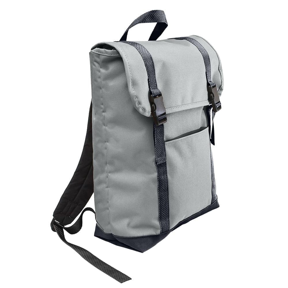 USA Made Poly Large T Bottom Backpacks, Gray-Graphite, 2001922-A1T