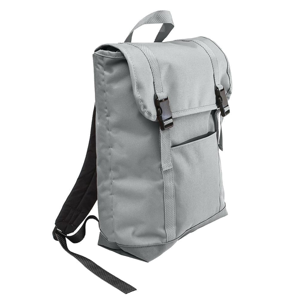 USA Made Poly Large T Bottom Backpacks, Gray-Gray, 2001922-A1U